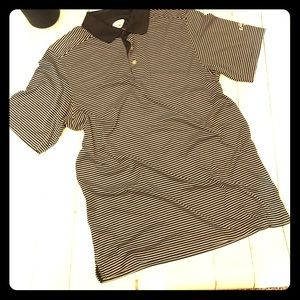 Callaway Golf size large black/white soft polo